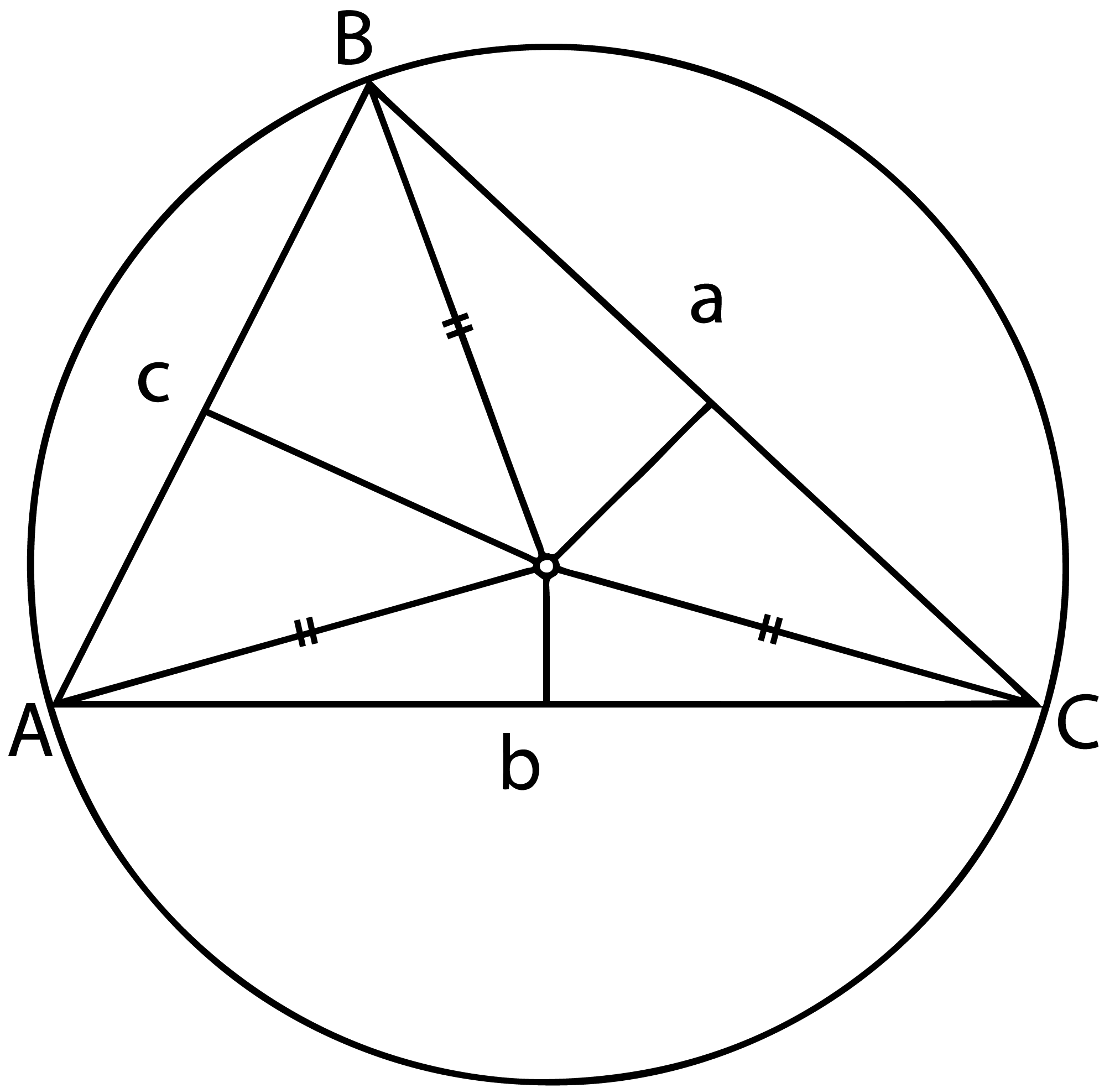 Areas of quadrilaterals within a triangle determined by its