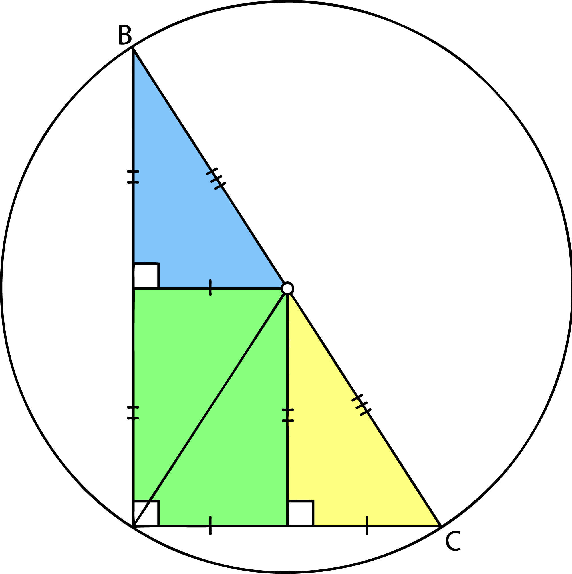 Perpendicular Bisector In Nature A right angle triangle the