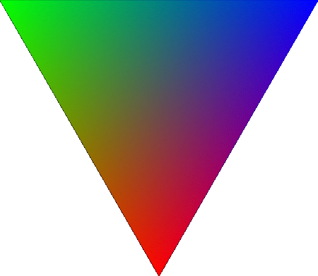 Resterized Linear Interpolation Of Colors In Triangle Svg