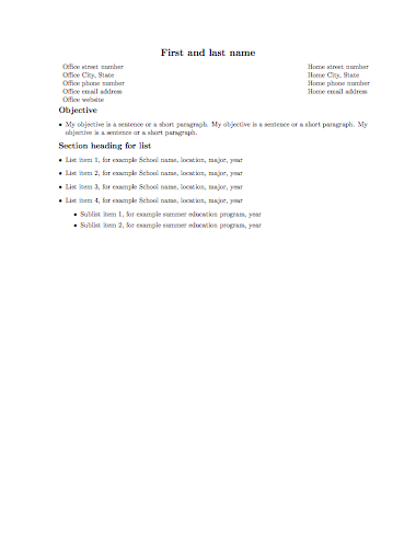 Résumé or curriculum vitæ (CV) in LaTeX « Alec\'s Web Log